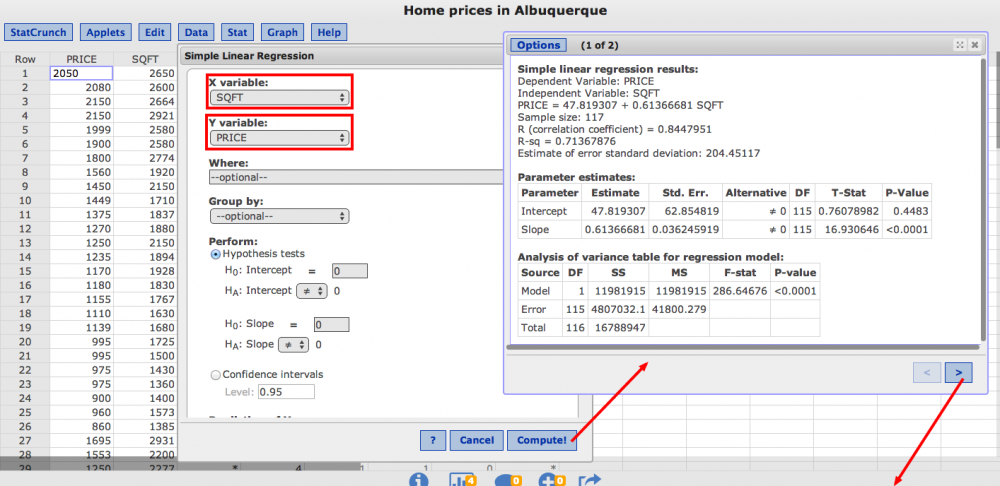 Linear Regression with Excel 2007 - WOU Homepage